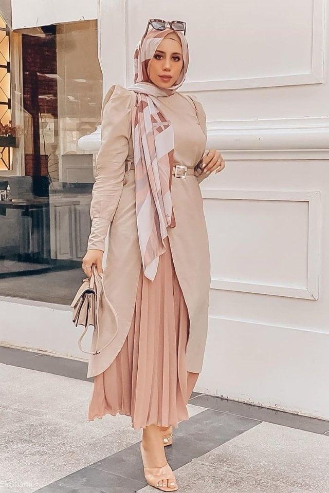 أفكار وتنسيقات لملابس العيد الجاكيت الطويل