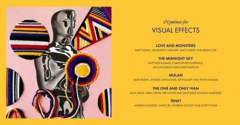 المرشحين لجائزة أفضل مؤثرات بصرية