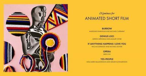 المرشحين لجائزة أفضل فيلم رسوم متحركة قصير